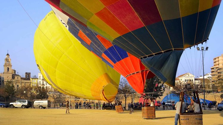 hot air balloon spain