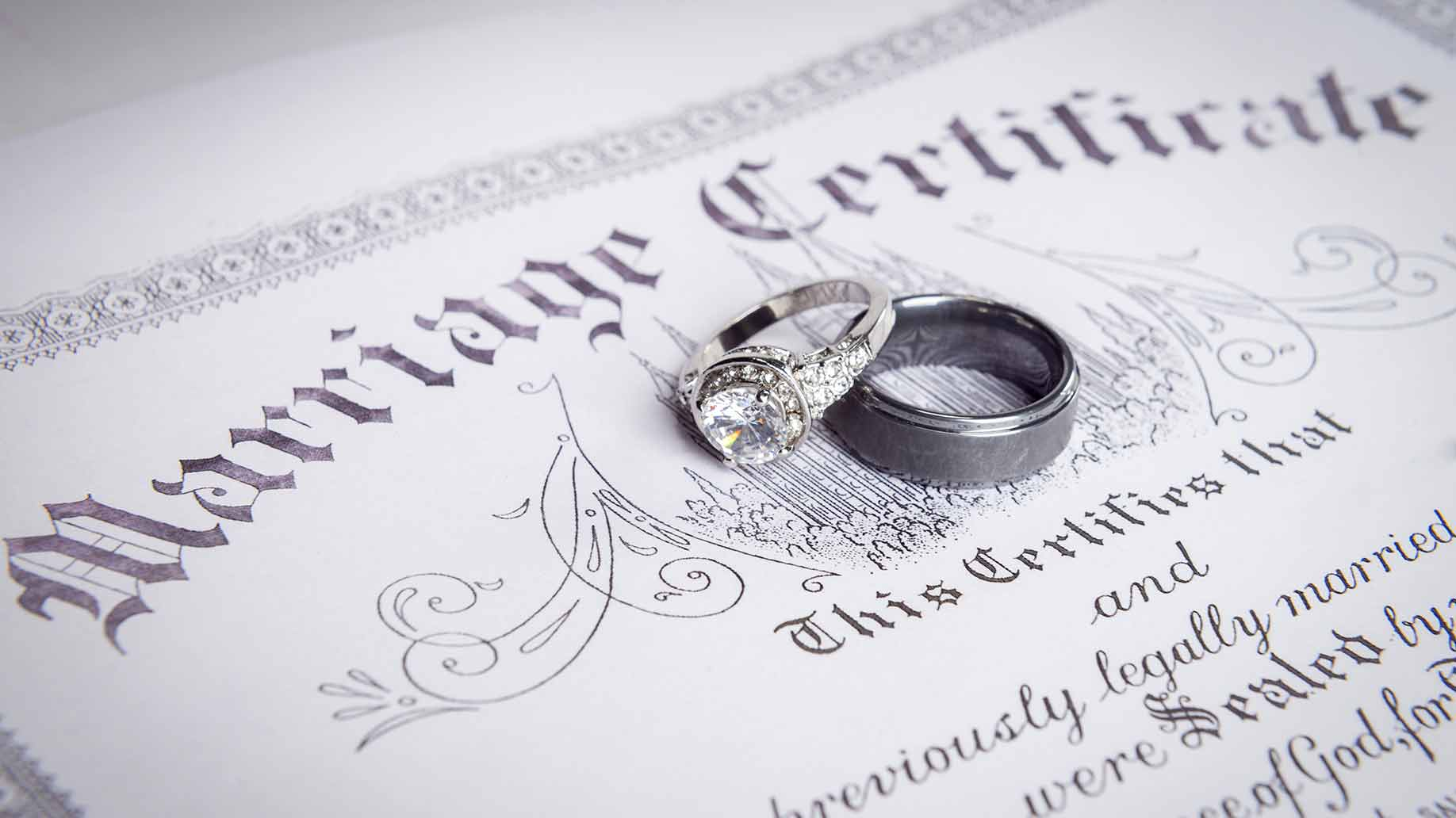 marriage certificate rings