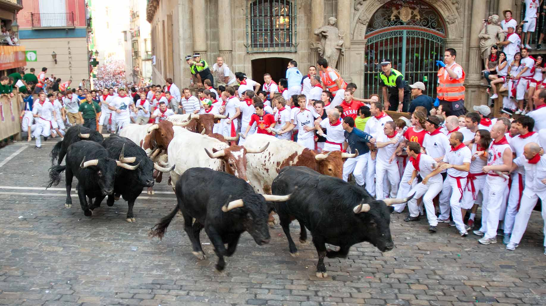 pamplona spain running with the bulls