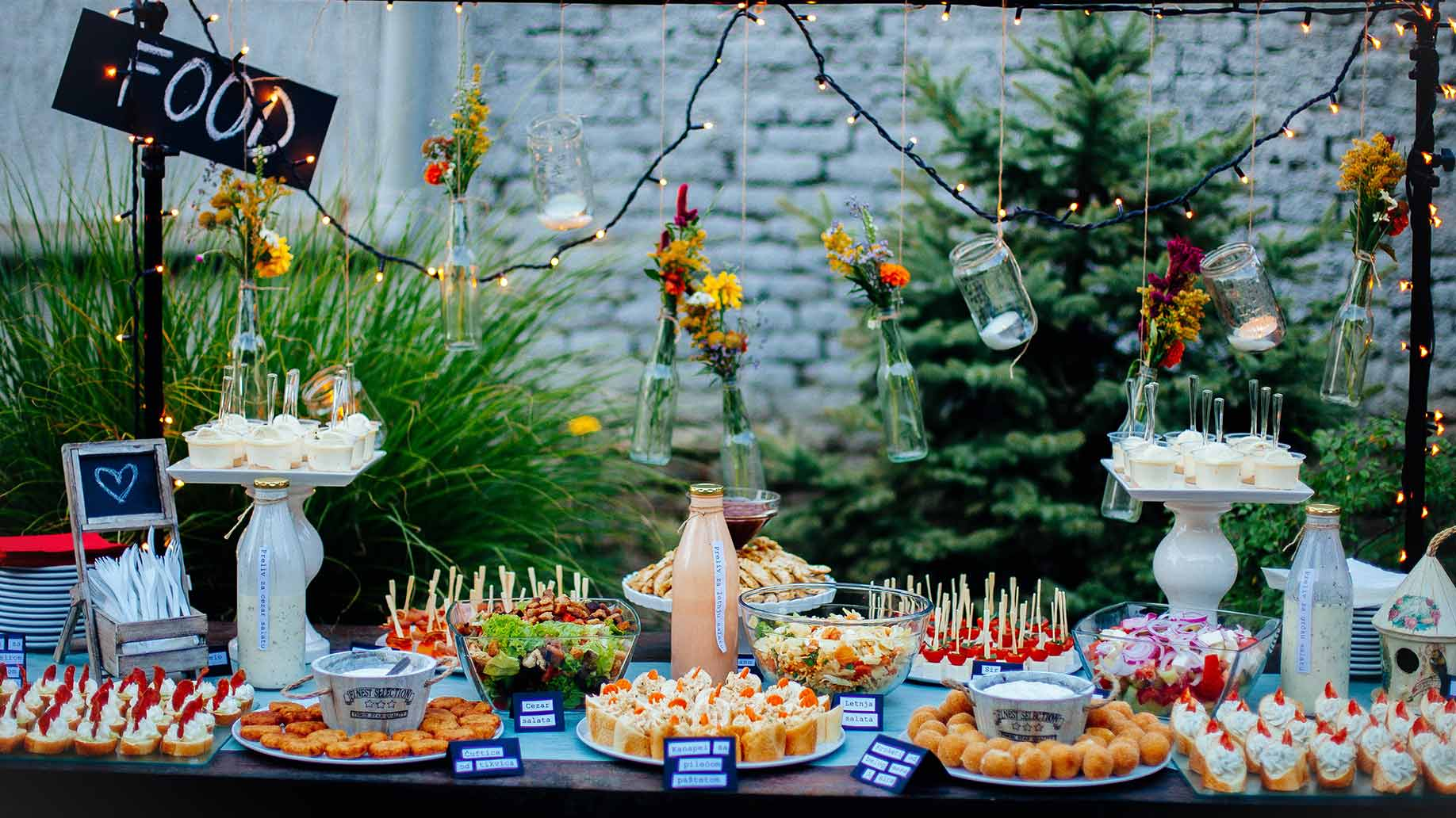 party food catering table