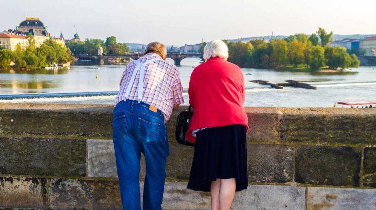 retired couple in prague