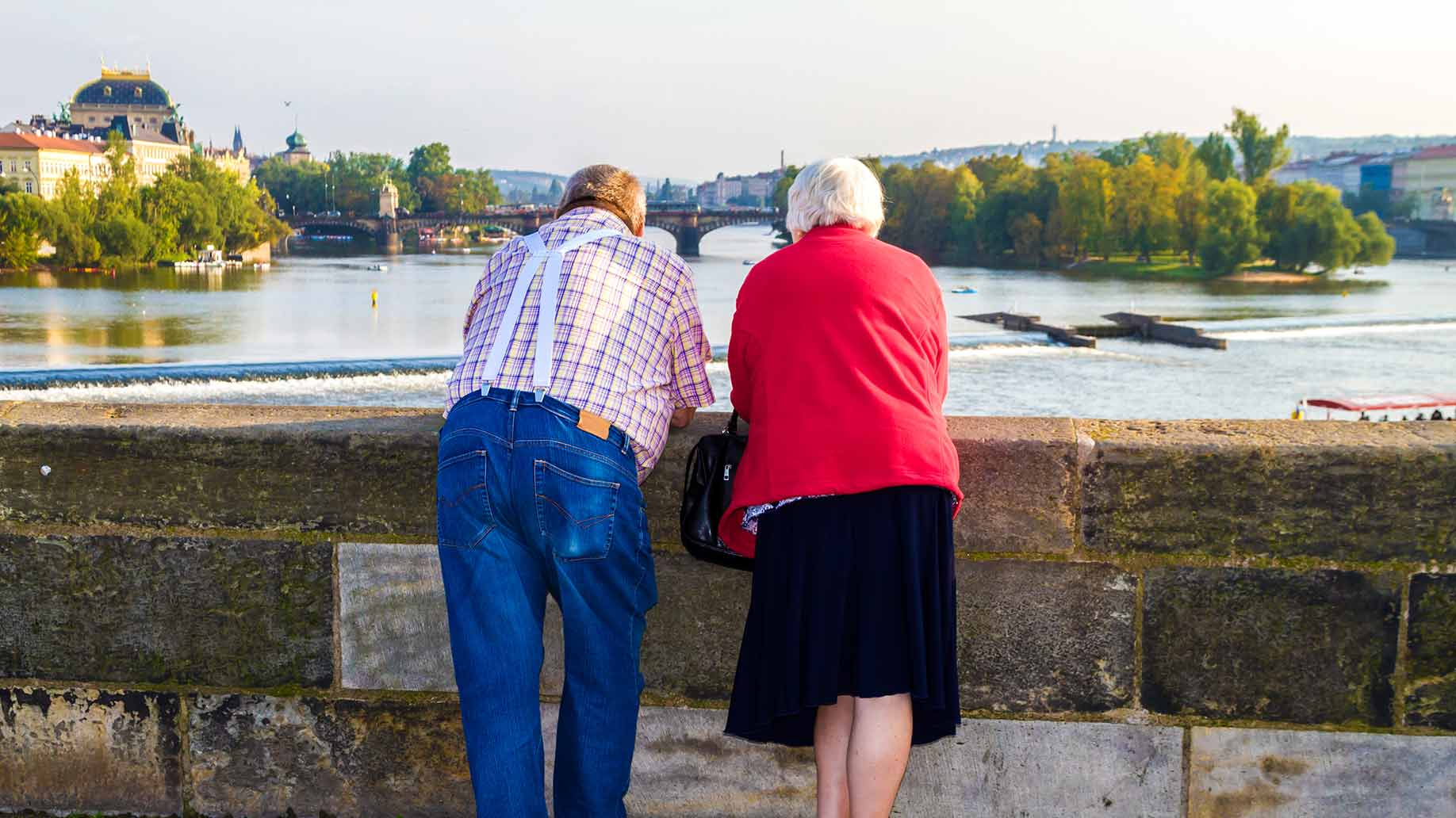 retired couple in prague