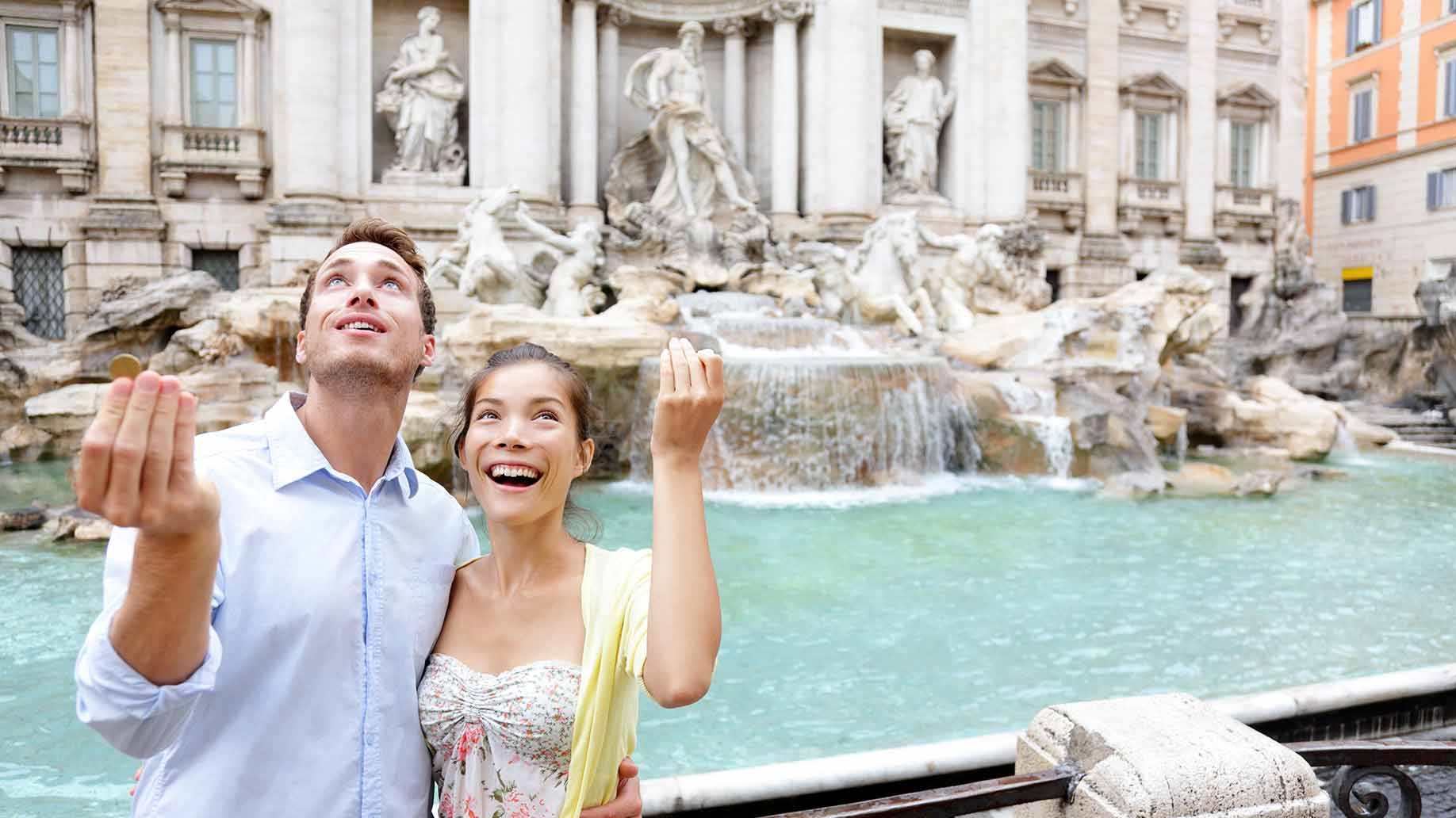trevi fountain rome vacation
