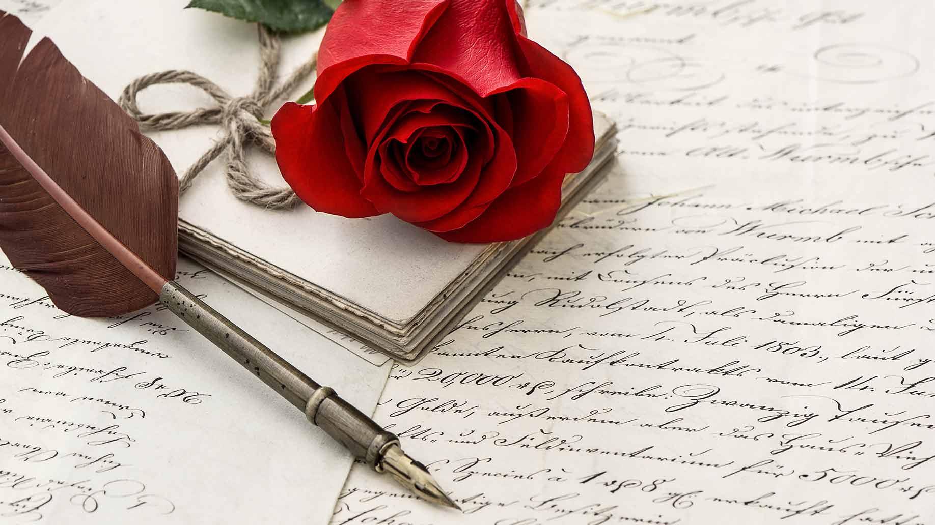wedding calligraphy rose