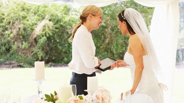 wedding planner bride